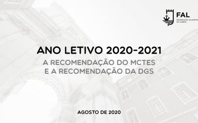 A Recomendação do MCTES e a Recomendação da DGS para o Ano Letivo 2020-2021