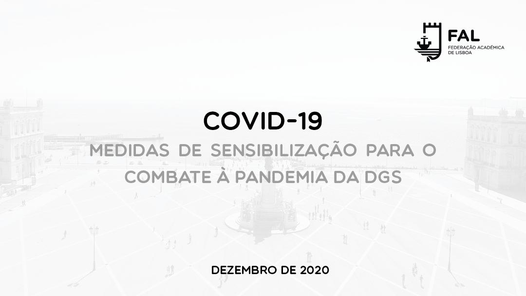 Medidas de contenção da pandemia COVID-19   DGS